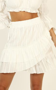 Ease My Mind Skirt In White