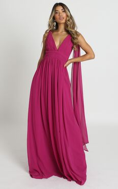 Oaklynn Maxi Dress In Fuschia