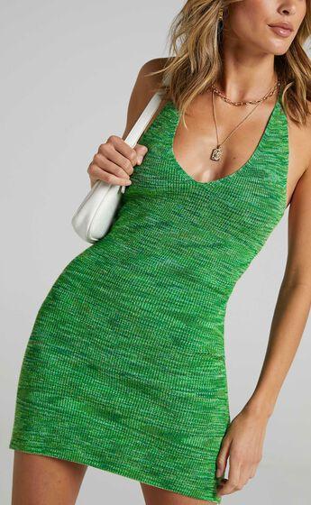 Alexiah Dress in Green Space Dye