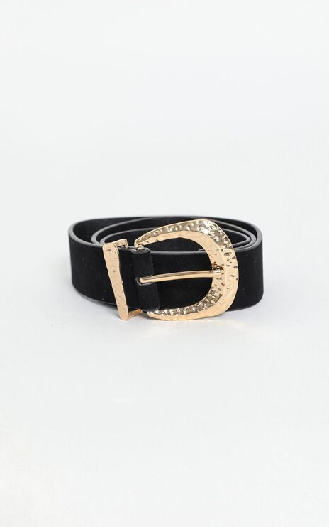 Elecktra Belt in Black and Gold
