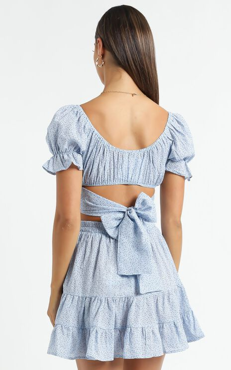 Annabel Two Piece Set in Blue Floral
