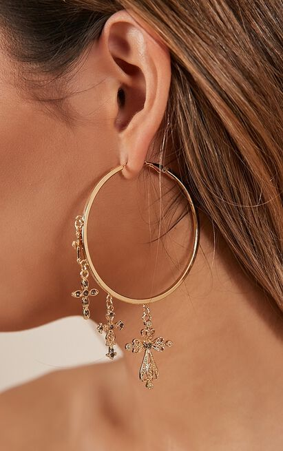 Entertainer earrings in gold, , hi-res image number null