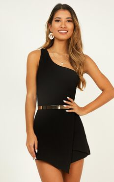 Stand Another Day Playsuit In Black
