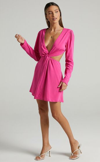 Ripon Dress in Hot Pink