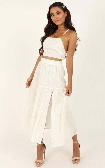 They had it coming Two Piece Set in white - 20 (XXXXL), White, hi-res image number null