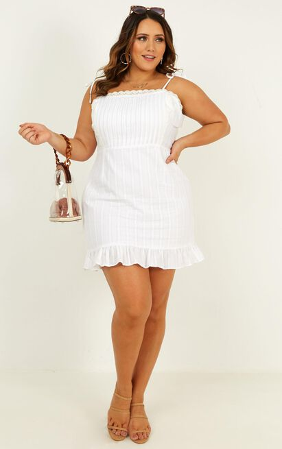 Sneaky Trip Dress in white - 20 (XXXXL), White, hi-res image number null