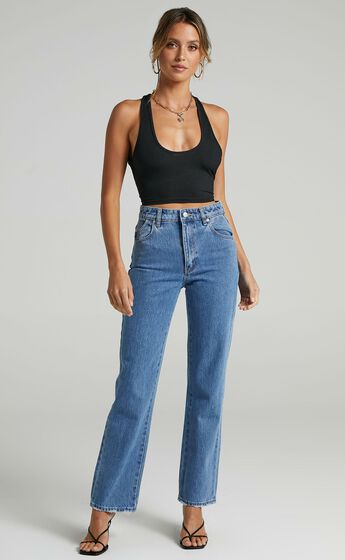 Rollas - Original Straight Jean in Maya Blue