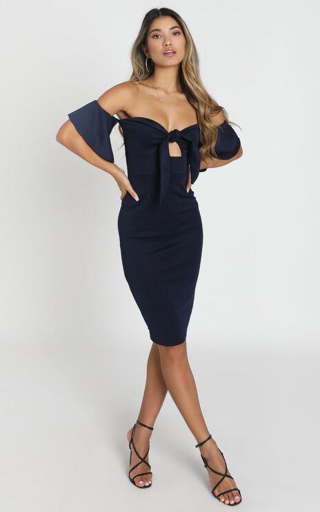 Guest Edit Dress In Navy