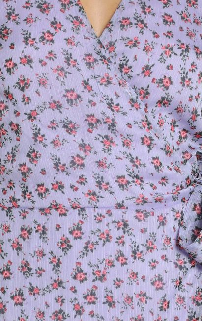 Girl Unknown dress in lilac floral - 20 (XXXXL), Purple, hi-res image number null