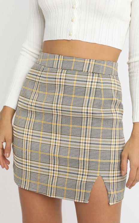 First Editions Skirt in camel check