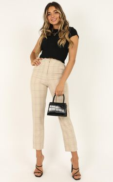Modern Way Pants In Beige Check