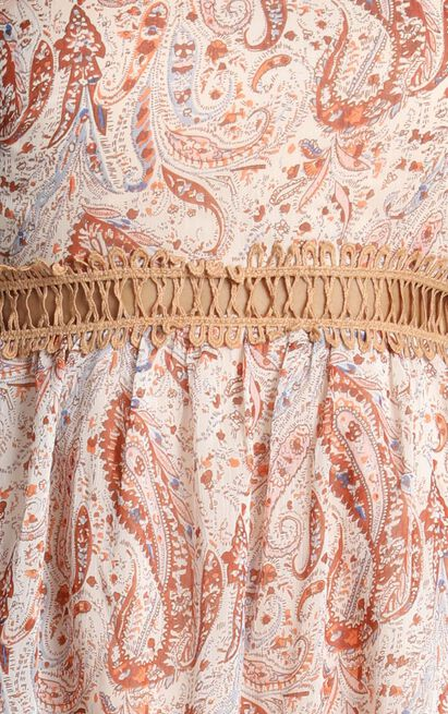 Ive Never Felt Like This Before Dress in rust paisley - 20 (XXXXL), Rust, hi-res image number null