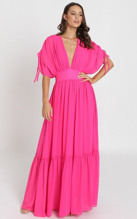 Angelic Dream Maxi Dress In hot pink
