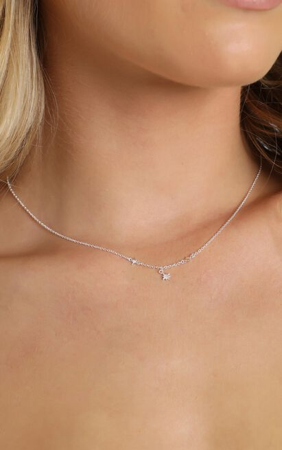 Midsummer Star - Celestial Star Necklace In Silver, , hi-res image number null
