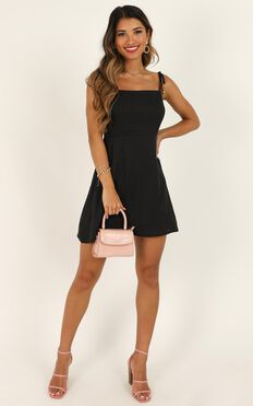 Afternoon Glow Dress In Charcoal