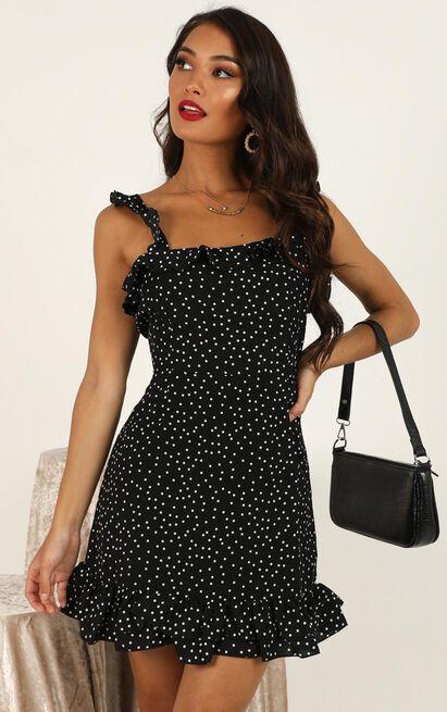 Imagination galore Dress in black spot - 20 (XXXXL), Black, hi-res image number null