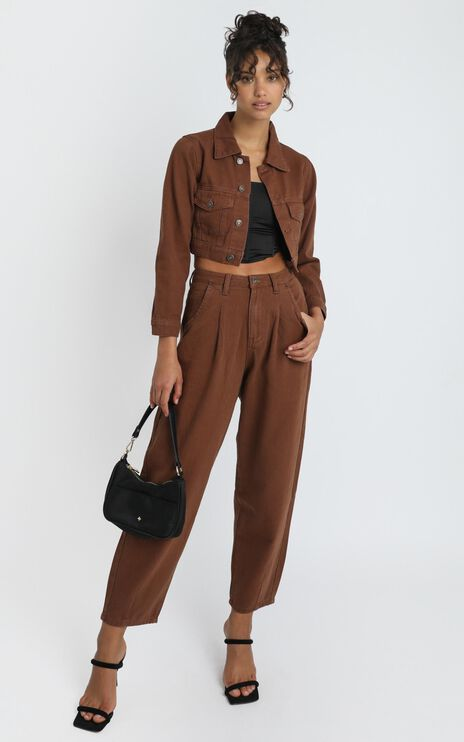 Lioness - On My Way Denim Jean in Brown