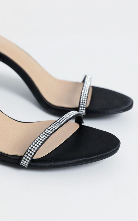 Therapy - Glimmer Heels in Black Suedette