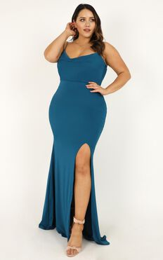 Tasteful Dress In Teal