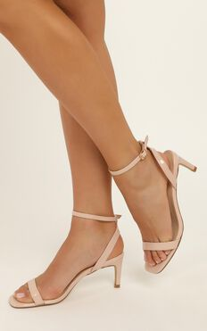 Verali - Valencia Heels In Nude Patent