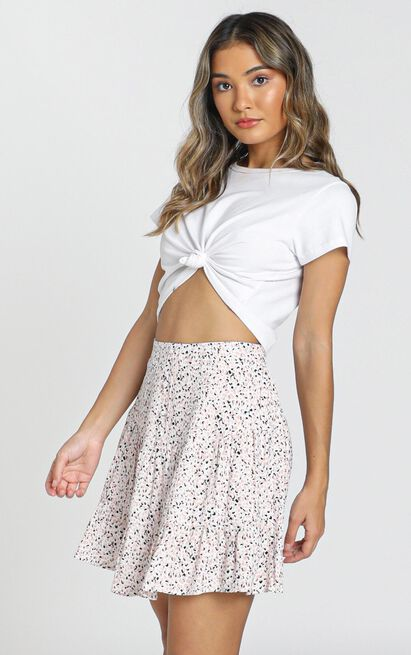 Kandace Skirt in blush floral - 8 (S), Blush, hi-res image number null
