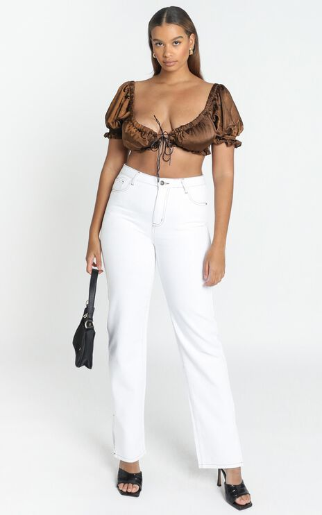 Lioness - A Little More Crop Top in Brown