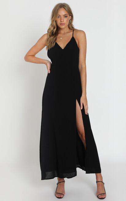 Ibiza Sunset Dress in black- 14 (XL), Black, hi-res image number null