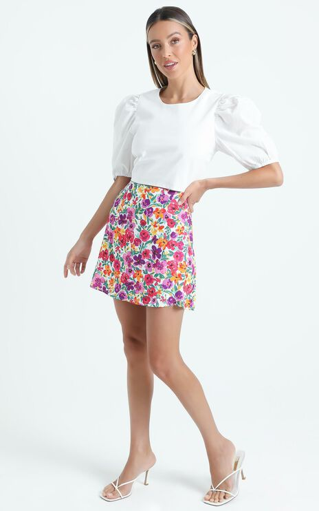 Sharnice Skirt in Packed Floral