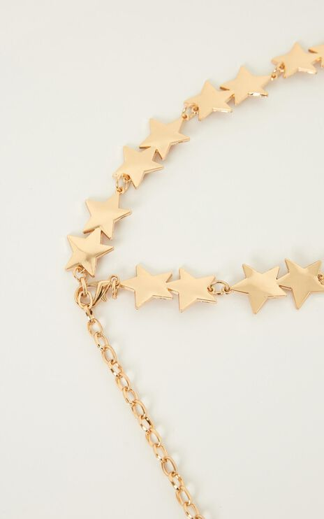 Touch The Sky Chain Belt In Gold