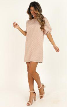 Imagine The Best Dress In Beige Spot