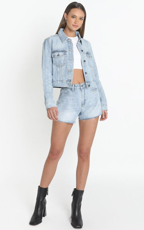 Kaycee Denim Jacket in Mid Light Wash