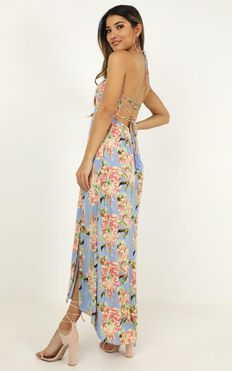 What You See Dress In Blue Floral