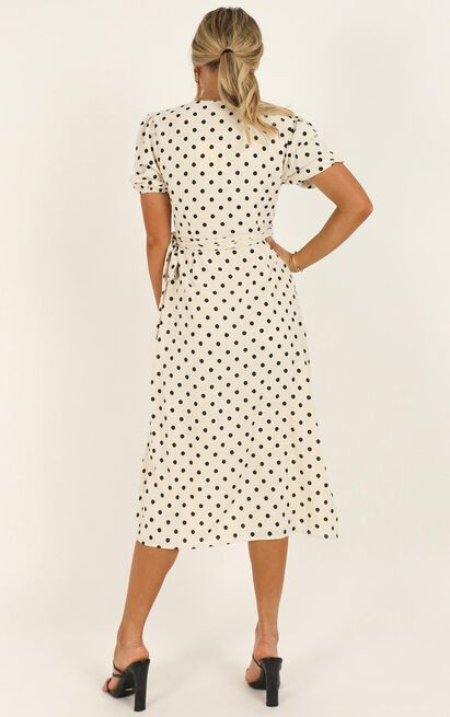 Taking Shortcuts dress in cream spot - 20 (XXXXL), Cream, hi-res image number null