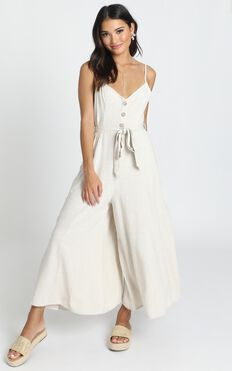 Endless Moments Jumpsuit In Beige