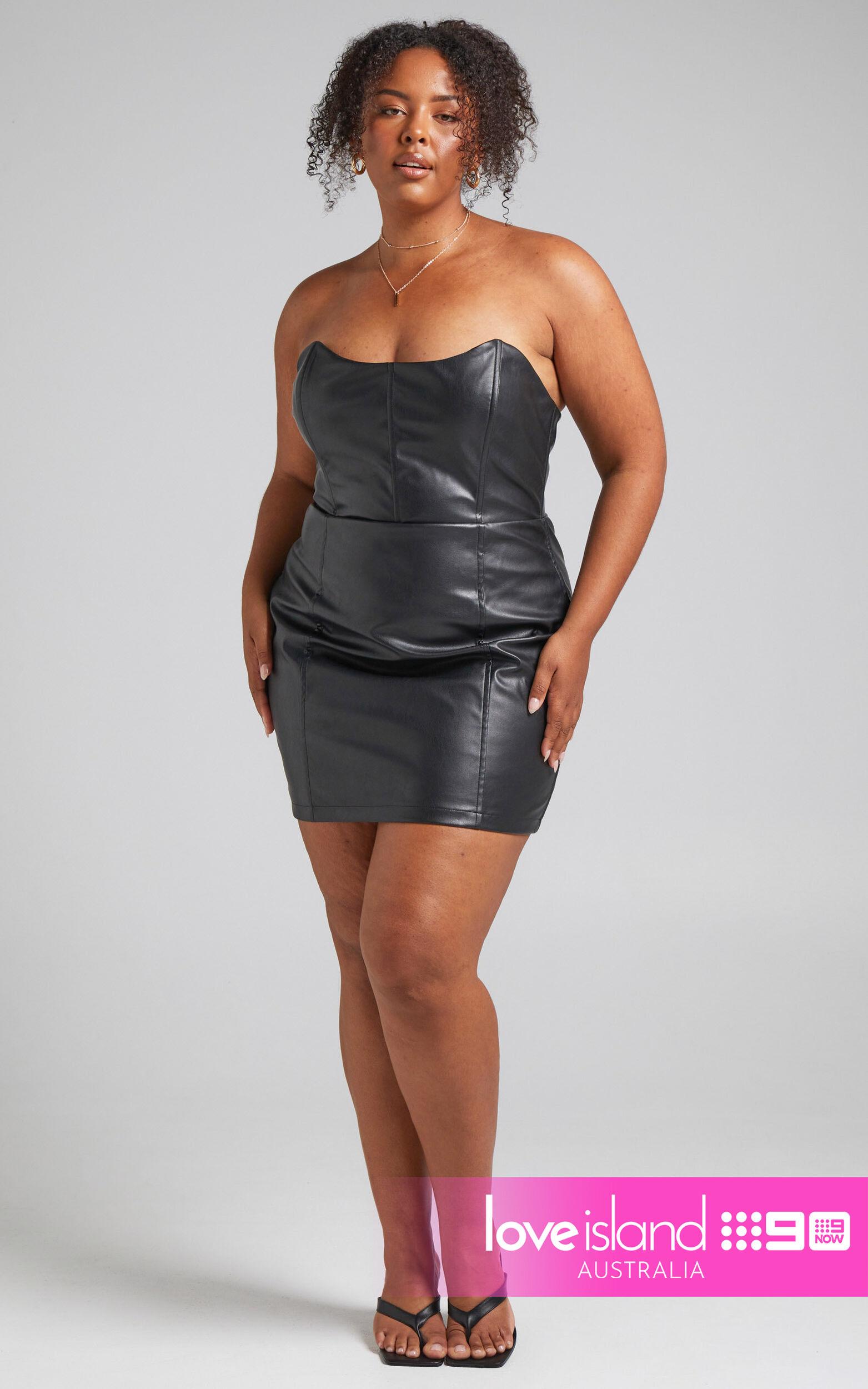 Lauren Strapless Corset Bodycon Mini Dress in Black - 06, BLK1, super-hi-res image number null