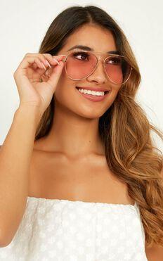 Where We Go Sunglasses In Rose Gold