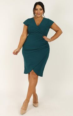 Quick Decider Dress In Teal