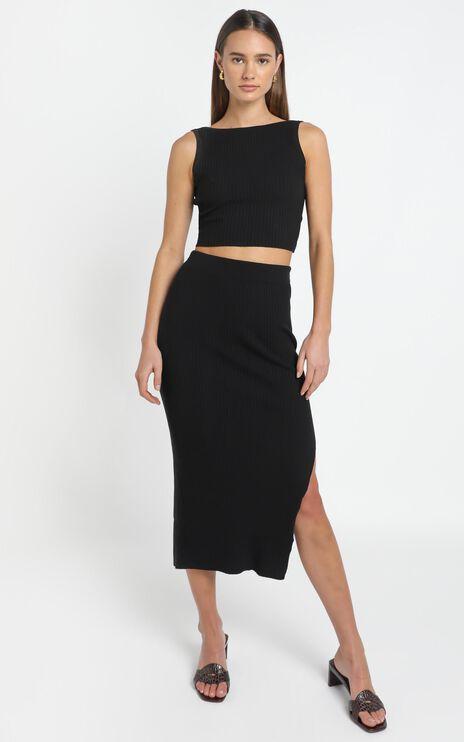 Hana Knit Skirt in Black