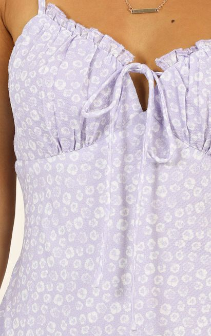 Uncertain Situation dress in lilac floral - 12 (L), Purple, hi-res image number null
