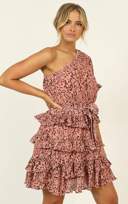 Alisha Dress in pink print - 14 (XL), Pink, hi-res image number null