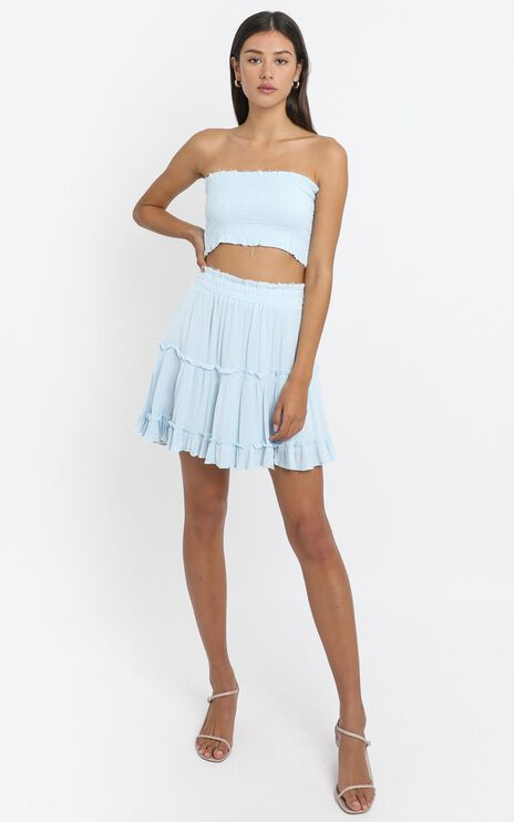 Outside The Line Two Piece Set in Baby Blue