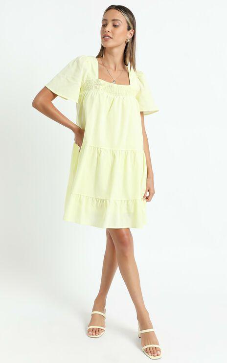 Donya Dress in Lemon