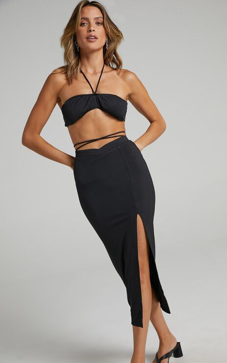 Chloey Two Piece Set In Black