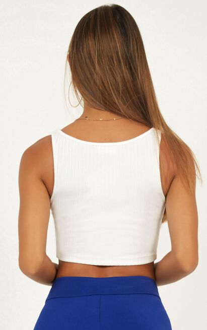 Burning Up Crop Top in white - 18 (XXXL), White, hi-res image number null