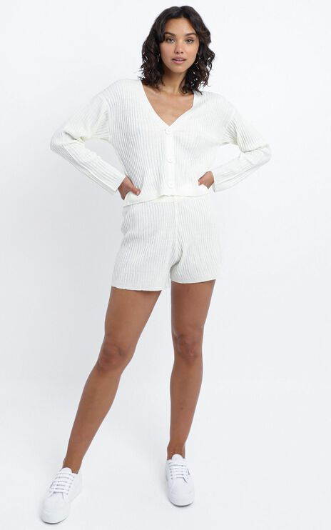Carrigan Knit Two Piece Set in White