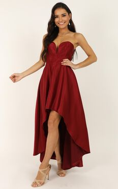 Dancing With Our Hands Tied Dress In Wine