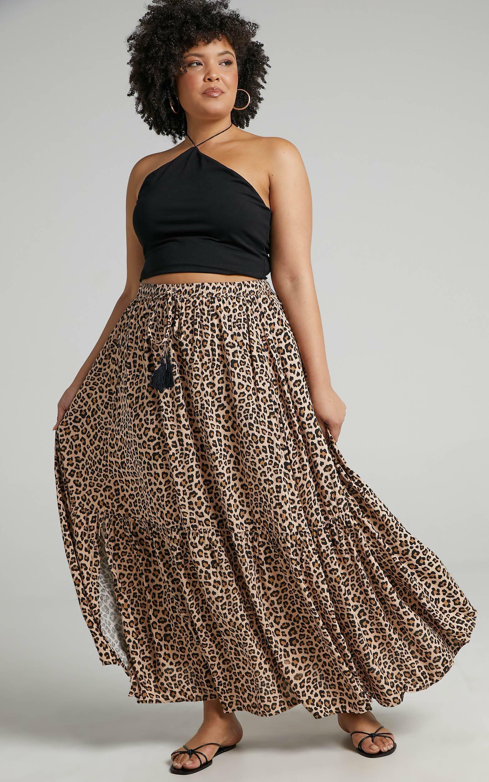Off To Bali Skirt in Leopard Print - 06, BRN1, super-hi-res image number null