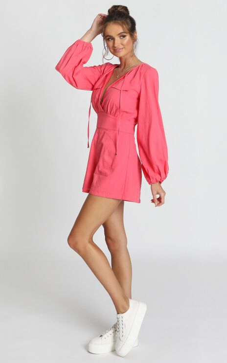 Moroccan Haze Playsuit In Watermelon
