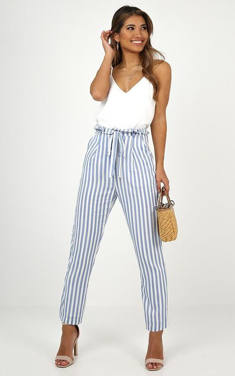 Going Forward Pants In Blue Stripe