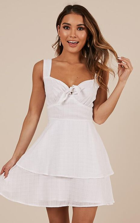 Over Looking Dress In White
